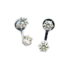 Diamond Stud Earrings 18 Karat White Gold