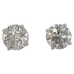 Diamond Stud Earrings 4.02 J-K SI3-I1