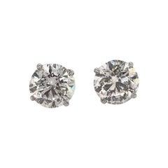 Diamond Stud Earrings 4.63 Carat F-G I1