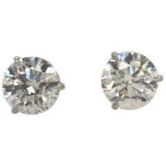 Diamond Stud Earrings 4.81 Carat I-J I1