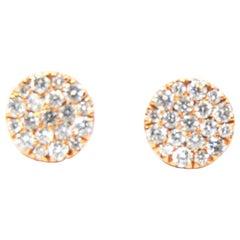 Diamond Stud Earrings in 18 Karat Rose Gold