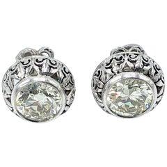 Diamond Stud Platinum Earrings
