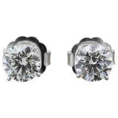 Diamond Stud Solitaire Gold Earrings