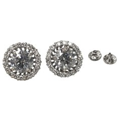 "Diamond Studs with Jackets Color ""G"", Clarity SI3-I1 and Weight 3.15 Carat"
