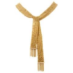 Diamond Stylish Mesh Scarf Style 18 Karat Necklace Wrap