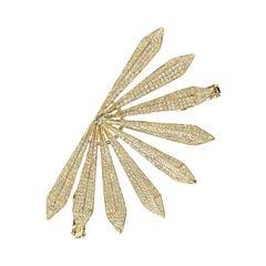 Diamond Sunrise Ear Cuff in 18k Yellow Gold