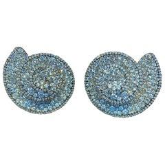Diamond Swirl Earrings
