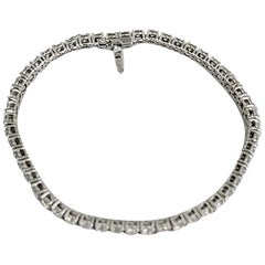 Diamond Tennis Bracelet 18 Carat Gold 4.95 Carat Diamond