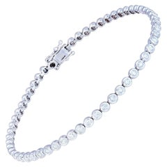 Diamond Tennis Bracelet 18 Karat White Gold Diamond 0.72 Carat/65 Pieces