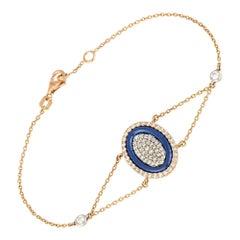 Diamond Tennis Bracelet 18k Tt Diamond 0.81 Ct/72 Pcs