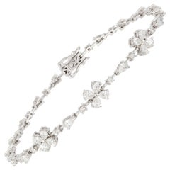 Diamond Tennis Bracelet 18K White Gold Diamond 0.32 Cts/19 Pcs PE 2.18 Cts/28 Pc