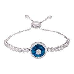 Diamond Tennis Bracelet 18k White Gold Diamond 0.96 Cts/51 Pcs