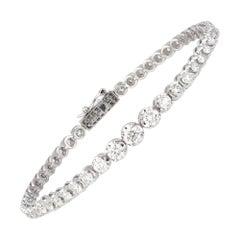 Diamond Tennis Bracelet 18k White Gold Diamond 3.00 Ct/51 Pcs