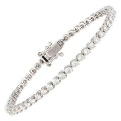 Diamond Tennis Bracelet 18k White Gold Diamond 4.55 Cts/53 Pcs