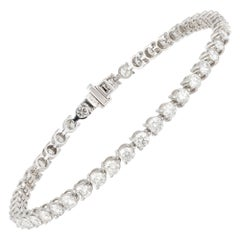 Diamond Tennis Bracelet 18K White Gold Diamond 4.85 Cts/46 Pcs