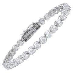 Diamond Tennis Bracelet 18k White Gold Diamond 8.00 Ct/32 Pcs