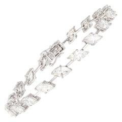 Diamond Tennis Bracelet 18k White Gold MQ 10.20 Cts/20 Pcs
