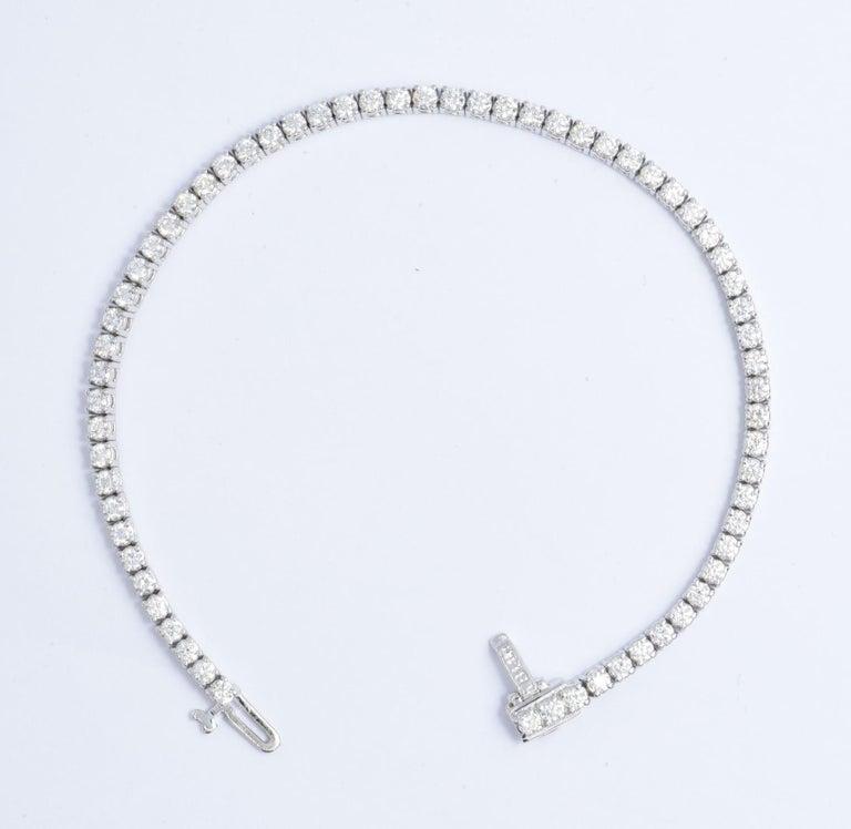 Contemporary Diamond Tennis Bracelet 3.00 Carat For Sale