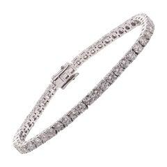 Diamond Tennis Bracelet 6.75 Carat in 18 Carat White Gold
