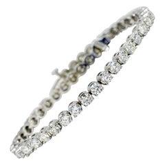 Diamond Tennis Bracelet 8.00 Carats Total White Gold