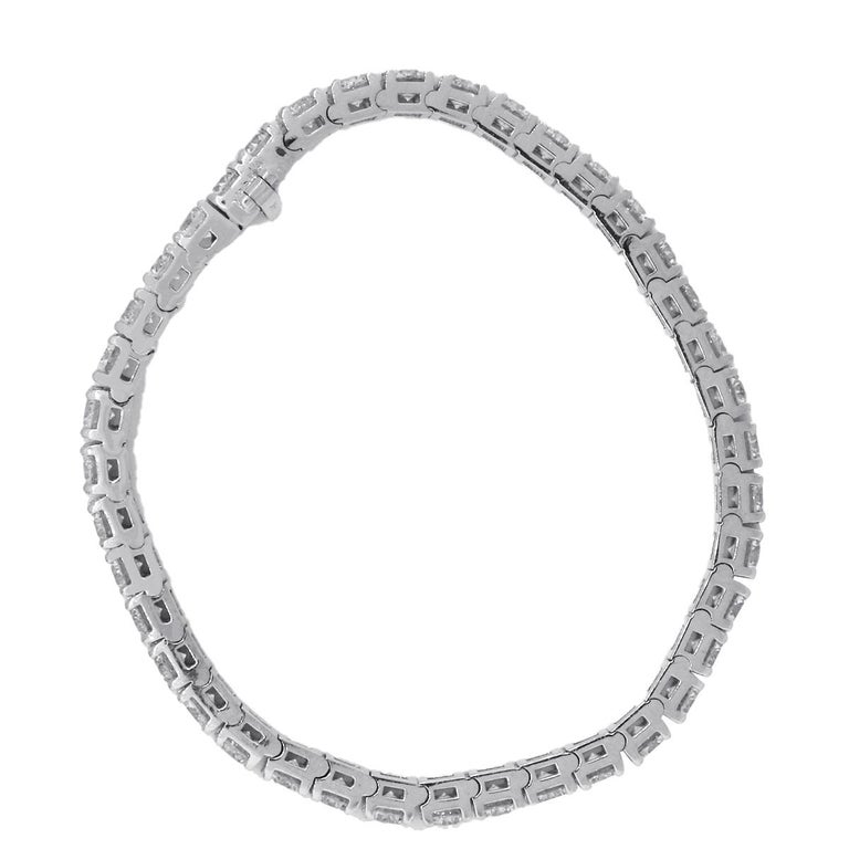 Round Cut Diamond Tennis Bracelet For Sale