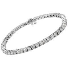 Diamond Tennis Bracelet in 14 Karat White Gold 6.50 Carat