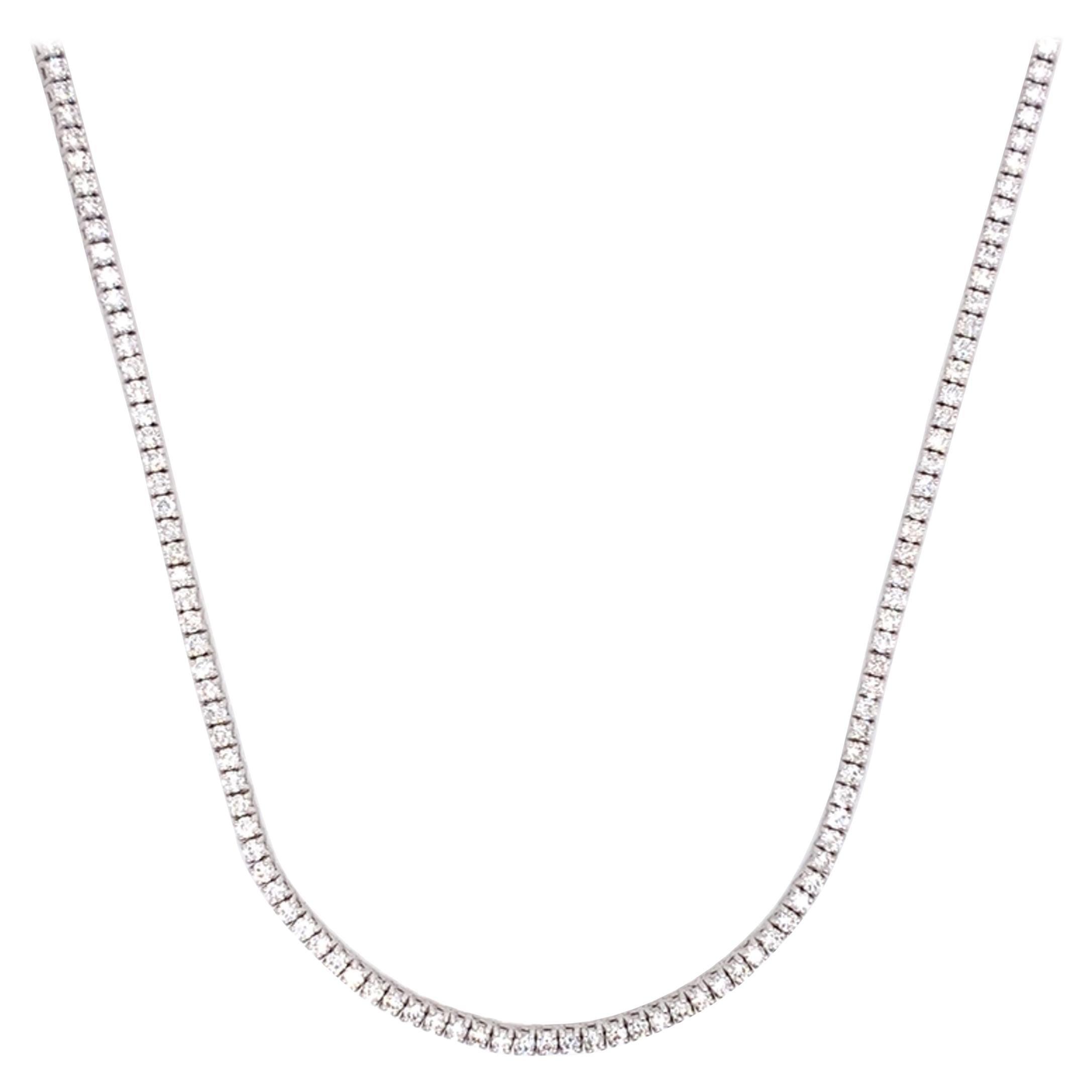 Diamond Tennis/Line Necklace
