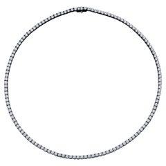 Diamond Tennis Necklace 11.75 Carat 18 Karat White Gold