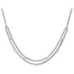 Diamond Tennis Necklace, 1970s