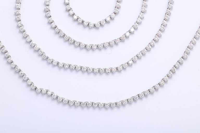 Diamond Tennis Opera Necklace In New Condition For Sale In New York, NY