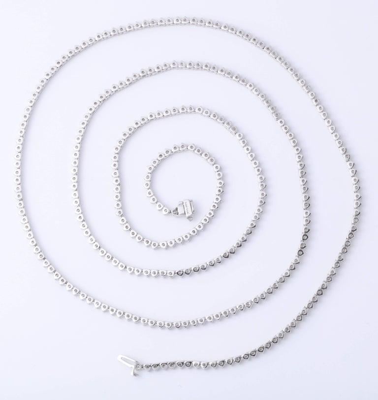 Diamond Tennis Opera Necklace For Sale 1