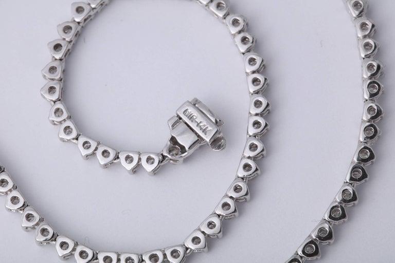 Diamond Tennis Opera Necklace For Sale 2