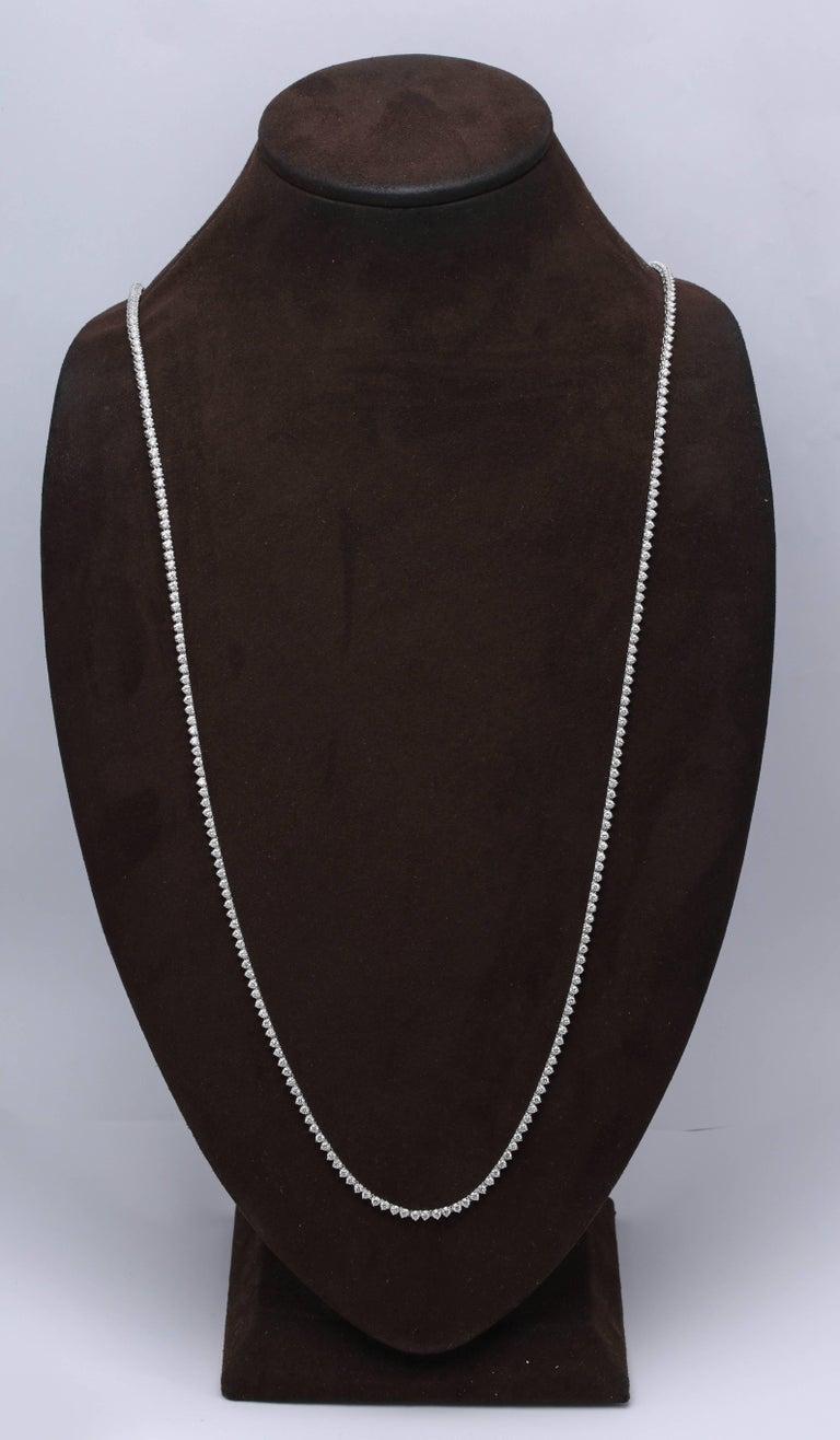 Diamond Tennis Opera Necklace For Sale 3