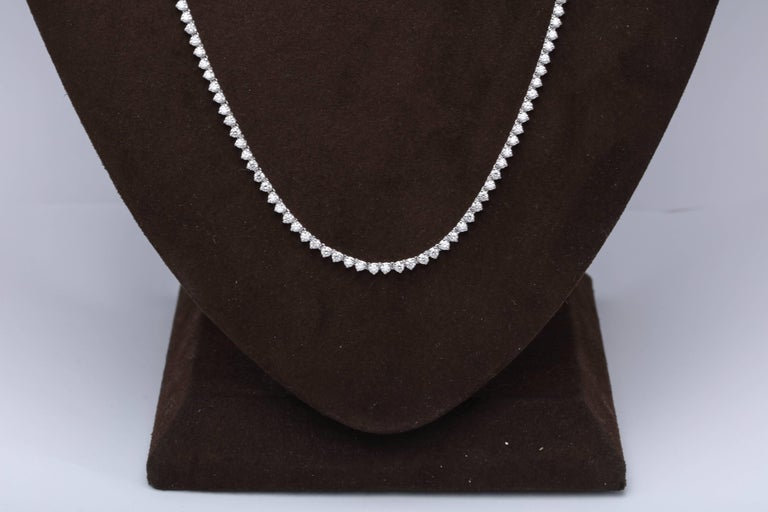 Diamond Tennis Opera Necklace For Sale 4