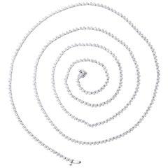 Diamond Tennis Opera Necklace