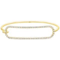 Diamond Tension Bracelet in 18 Karat Yellow Gold
