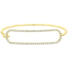 Diamond Tension Series Bracelet in 14 Karat Yellow Gold