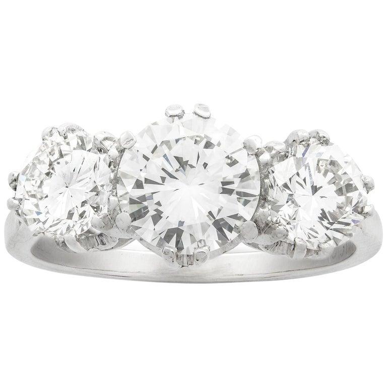 Diamond Three Stone Ring For Sale