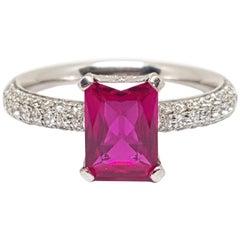 Diamond Tourmaline Rubilite Gold Ring