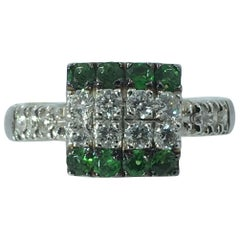 Diamond Tsavorite Ring