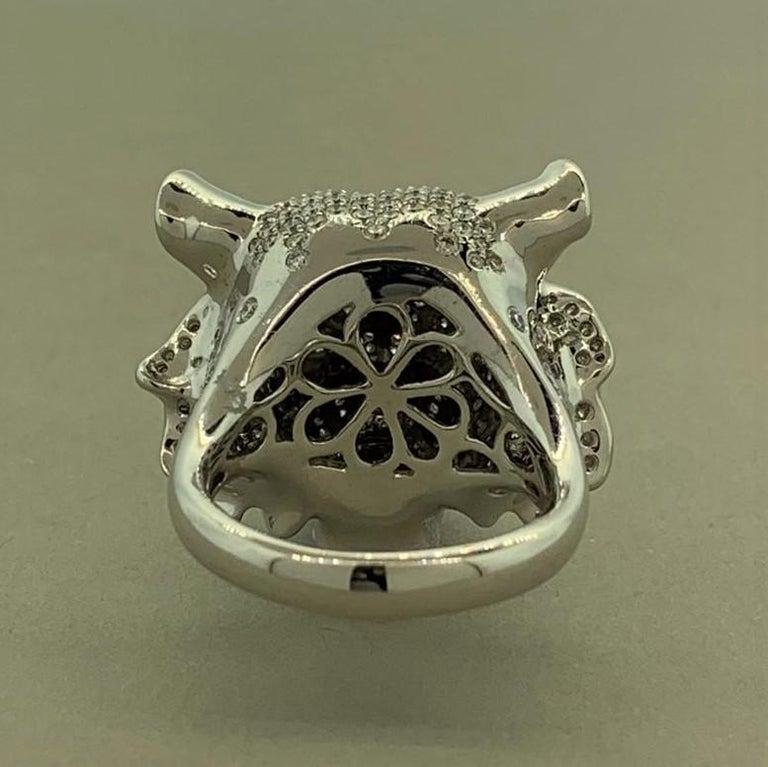 Women's or Men's Diamond Tsavorite Ruby Lion Ring For Sale