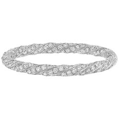 Diamond Twist Eternity Band '0.82 Carat'