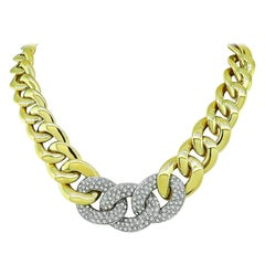 Diamond Two-Tone Gold Chain Necklace