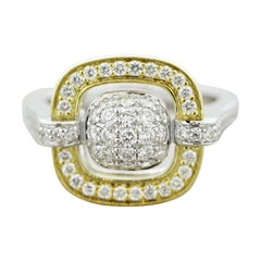 Diamond Two-Tone Gold Ring