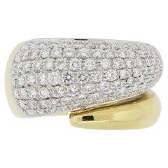 Diamond Two-Tone Gold Wrap Band Ring