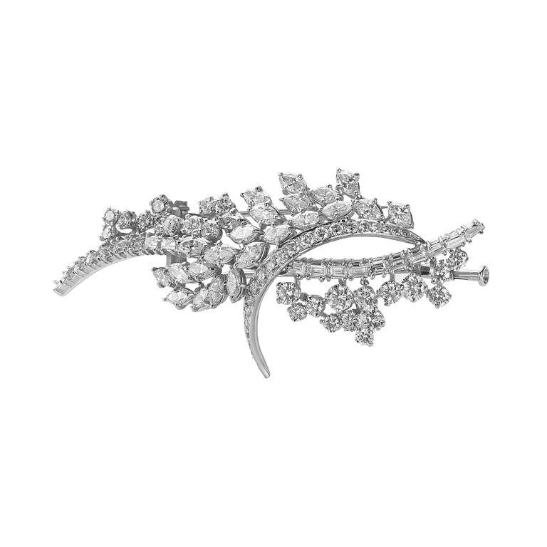 Diamond Van der Veken High Jewelry Brooche For Sale