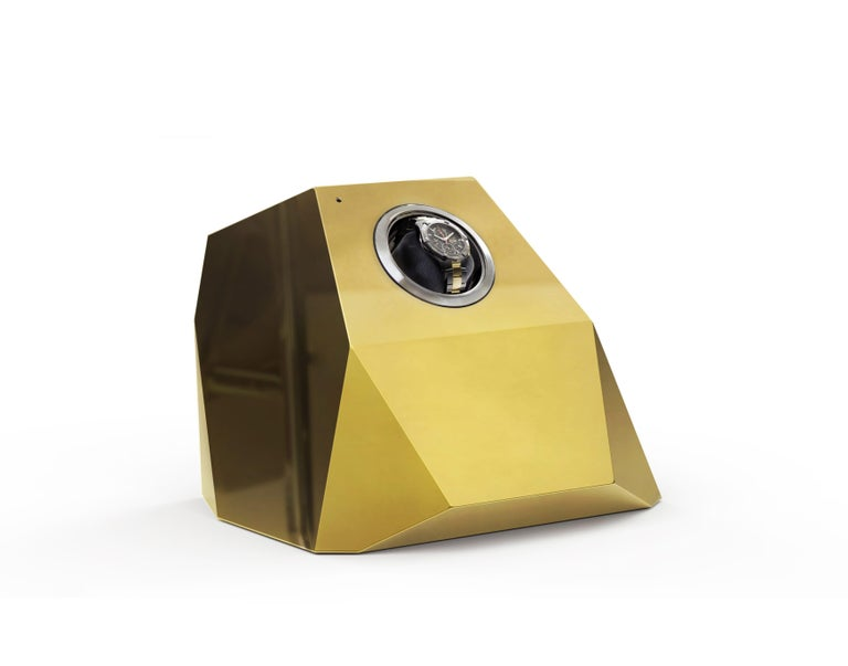 Diamond Watch Winder  In New Condition For Sale In New York, NY