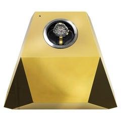 Diamant Uhrenbeweger mit Blattgold Finish von Boca Lobo