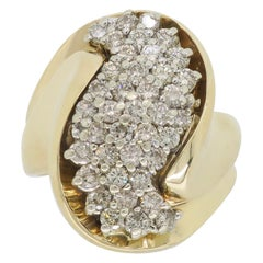 Diamond Wave Fashion Ring