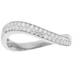 Diamond Wave Ring White Gold